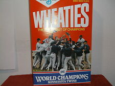 VINTAGE 1987 MINNESOTA TWNS WORLD CHAMPIONS WHEATIES CEREAL BOX..#6.