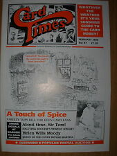 CARD TIMES MAGAZINE FORMERLY CIGARETTE CARD MONTHLY No 97 FEBRUARY 1998