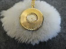 Baroness 17 Jewels Wind Up Necklace Pendant Watch