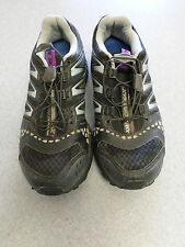 "Salomon ""XR Cross Max"" black and silver trail running shoes, Women's 7.5"