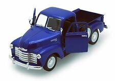 "Welly 1953 Chevrolet 3100 Pickup Truck 1:24 scale 8"" diecast model BLUE W213"