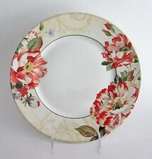 222 FIFTH RAWLINGS FLORAL Design Porcelain Dinner Plates Set of 4 NEW