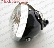 "New Headlight Lucas Type 7"" Dia Vintage Bikes Complete Headlamp+Ammeter & Switch"