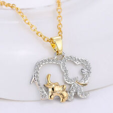 Hot Sale Crystal Elephant Pendant Chain Necklace Charm Mother's Day Special Gift