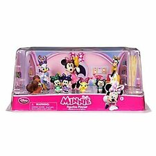 NIP Disney Store Minnie Mouse Bowtoons 7 Piece Figurine Play Set Cake Topper