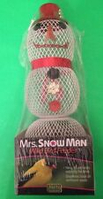 SUPER CUTE MRS SNOWMAN WILD BIRD FEEDER NIP!