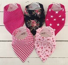 Bandana Dribble Bib Bundle x 5 Girls ~ Pretty Mix ~ Cute!! ~ Bilibib