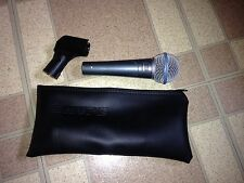 Shure Beta 58A Vocal Microphone XLR Tested and Works Excellent condition