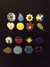 Pokemon Kanto And Johto Gym Badges Set of 8 Both Sets ***30 DAY WARRANTY*** USA