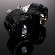 2Pcs 2.5'' RHD HID Bi-xenon Projector Lens Shroud Headlight H1 H4 7 Hi/Low Beam