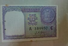 Rare 1 rs 1957 note signed by L K JHA in UNC conditions