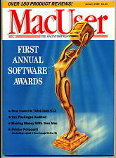 MacUser First Annual Software Award Issue - Jan, 1986 - NEW!