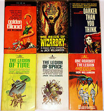 6 PB Sci-Fi Lot - Jack Williamson - Legion of Space, SIGNED Reign of Wizardry +2