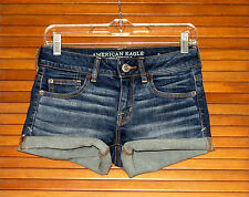 AMERICAN EAGLE OUTFITTERS WOMENS DENIM JEAN SHORTIE SHORTS ~ SIZE 4 ~ NWOT