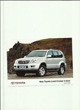 TOYOTA LAND CRUISER 5 PORTE PRESS PHOTO DICEMBRE 2002 per 2003' BROCHURE correlati""