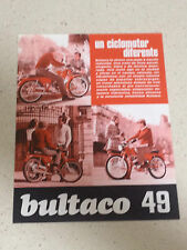 1970 BULTACO 49 NO TRIAL OSSA MONTESA MOTO BROCHURE PROSPEKT CATALOGO CATALOGUE