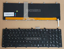 For MSI GT780 GT780R GT780DX GT780DXR keyboard German Tastatur Deutsch Backlit