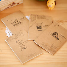 2Pcs Notepad Copybook Vintage Cute Paper Notebook Blank Pages Diary Journal Memo