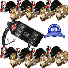 "air suspension  8pcs 250psi Brass valves 1/2"" npt electric solenoid & Controller"