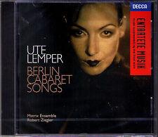 Ute LEMPER BERLIN CABARET SONGS Spoliansky Hollaender Goldschmidt Peter Peter CD