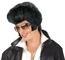 Oversize Rock N Roll Elvis Wig Adult Costume Acessory