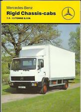 MERCEDES BENZ RIGID CHASSIS-CABS 7.5-13 TON GVW TRUCK LORRY BROCHURE 1990 1991