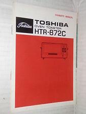 TOSHIBA OVEN TOASTER HTR 872C Owner s manual Toshiba 1980 libro manuale corso di
