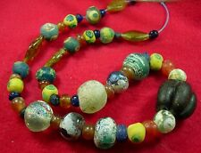 49 Ancient  Roman Glass & Crystal & carnelian stone beads set #2