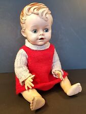 Vintage 1950s Pedigree Doll Hard Plastic Bent Knees 14""