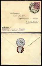 INDIA KG5 1929 POLICE ENVELOPE BOMBAY PORT TRUST 2A SOLO to LITTLEHAMPTON