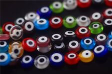 Bulk 50pcs Glass Eyes Design Millefiori Beads Spacer Jewelry Making 10mm Charms