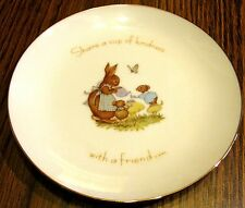 "1974 TINY TALK Collector 6"" Plate ""Share..cup..kindness with a friend"" w Hanger"