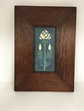 Motawi Long Stem Art Tile in a Family Woodworks Legacy Arts & Crafts Frame