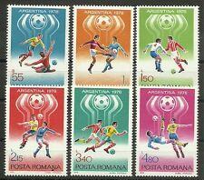 FUSSBALL-WM 1978/ Rumänien MiNr 3506/11 **