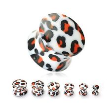 LEOPARD Ohr Plug Tunnel Piercing 8mm HPAD2157-0