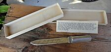 vintage EASTERN AIR LINES Turbine Wheel Blade Letter Opener E & M Division