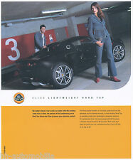 Lotus Elise folleto Lightweight hardtop air conditioning 2002 gb brochure auto