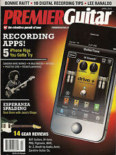 PREMIER GUITAR April 2012 Recording Apps iPhone ESPERANZA SPALDING Bonnie Raitt