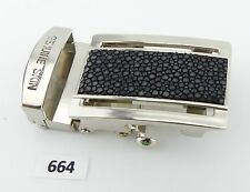 664) Gürtelschnalle buckle 3,2 cm aus Rochenleder Stingray Leather Кожа ската