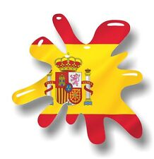 Retro Old School SPLAT & Spain Spanish Country Flag vinyl car sticker decal