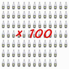100PCS White T10 Wedge 5-SMD 5050 LED Light bulbs W5W 2825 158 192 168 194 LAMPS