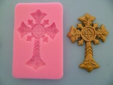 VINTAGE CHRISTIAN CROSS SILICONE MOULD FOR CAKE TOPPERS, CHOCOLATE, CLAY ETC