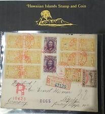 Hawaiian Registered cover 1897 scott# 2x53, 11x74, 75x1   R6