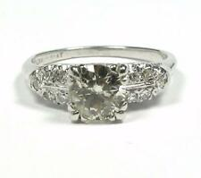 Engagement Promise Diamond Women Ring 1.25CTW  1.1CT Solitaire Platinum Vintage