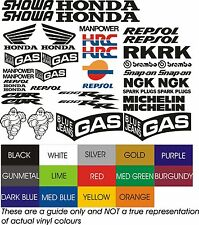 H14  RACE  BIKE DECAL STICKERS CBR 600 HRC REPSOL GAS MICHELIN