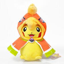 Pokemon Plush Cosplay Pokemon Ho-oh Poncho Pikachu Stuffed Dolls Toy 9in