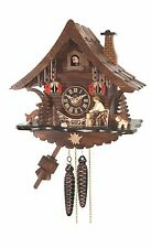 original cuckoo clock black forest 1 day  german wood carved mechanical new