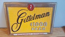 (VTG) 1950s GETTELMAN 1000 BEER PLASTIC ADVERTISING BAR SIGN MILWAUKEE RARE