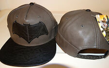 Batman Vs Superman Dawn Of Justice Faux Leather PU Snap Back Hat Nwt
