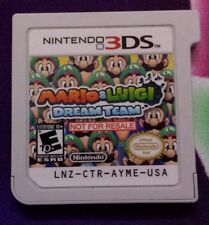 Mario & and Luigi Dream Team Demo Not For Resale